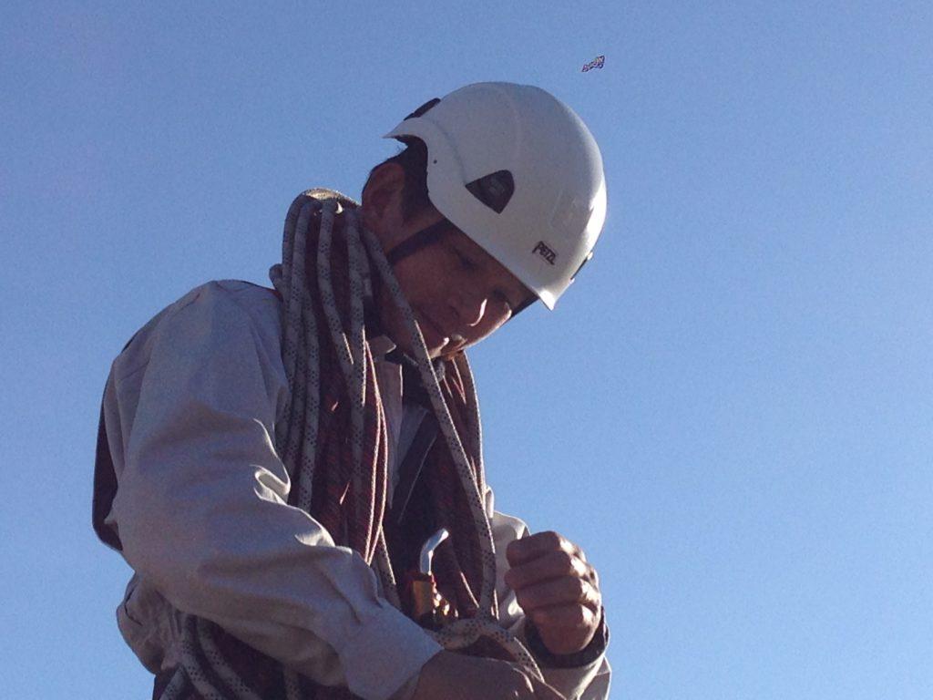 ロープ高所作業をやりましょう